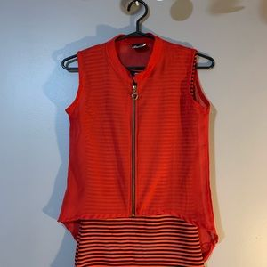Tops - Red and black top